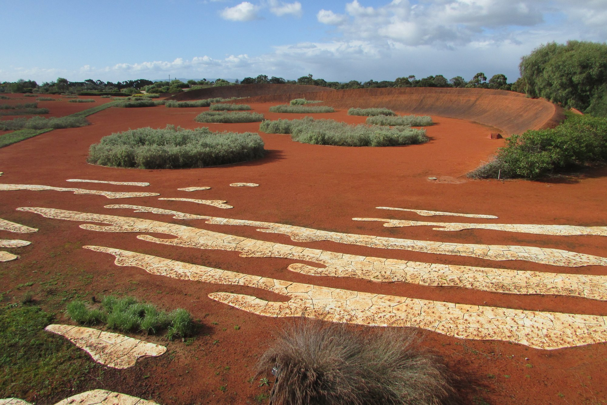 Red Sand Garden In The Australian Garden