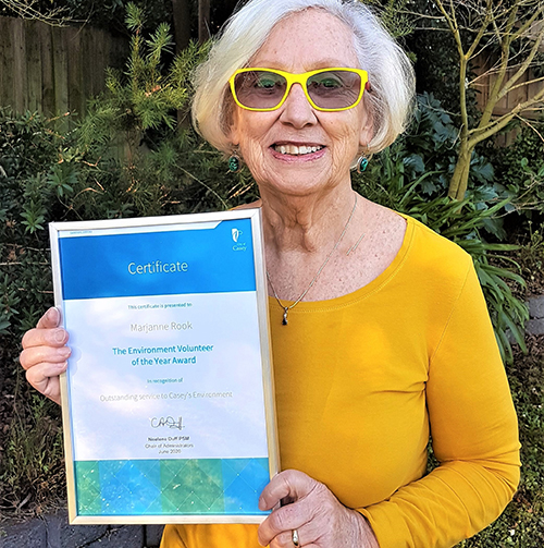 Growing Friends Volunteer Recognised