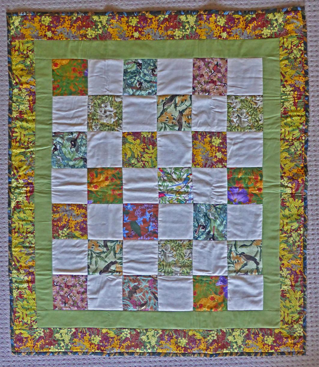 Commemorative Signature Quilt. Size – 107cm X 96 cm